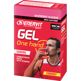 Enervit One Hand Gel Laatikko 6x12,5ml, raspberry